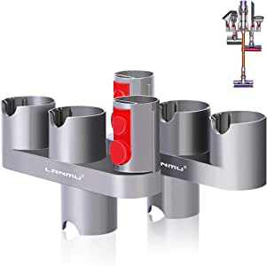 LANMU Reemplazo para accesorios de aspiradora Dyson, convertidor adaptador para Dyson V10, V8, V7, soporte organizador de accesorios Dyson para aspiradora Dyson V10, V8, V7 (gris, paquete de 2): Amazon.es: Hogar