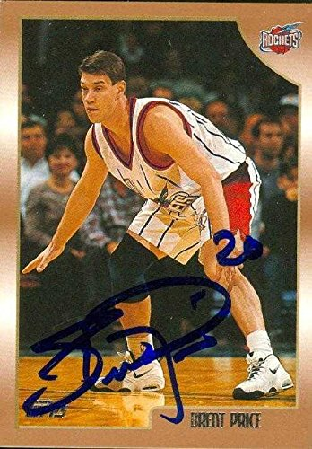 Brent Price autographed Basketball Card (Houston Rockets) 1999 Topps #210 - Autographed Basketball -