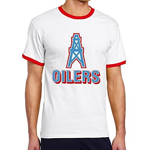 Male Houston Oilers Logo Baseball Blend Color Tshirt