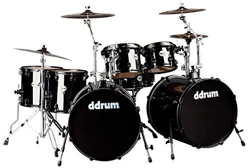 ddrum-j2dd722-mb-journey-double-bass-7-piece-drum-set-black