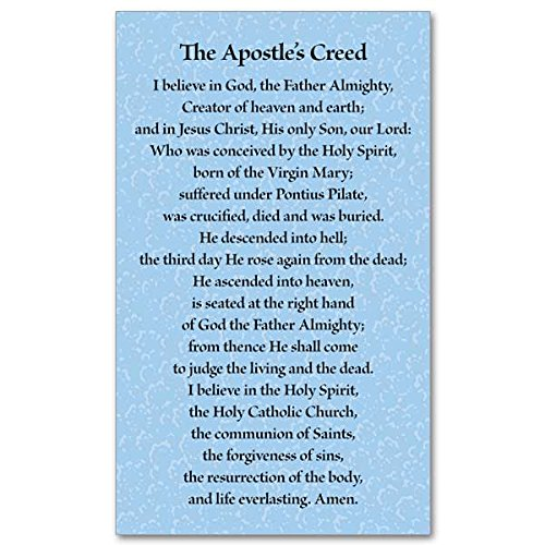 (Apostles Creed Holy Prayer Card 3 by 5 Inch)