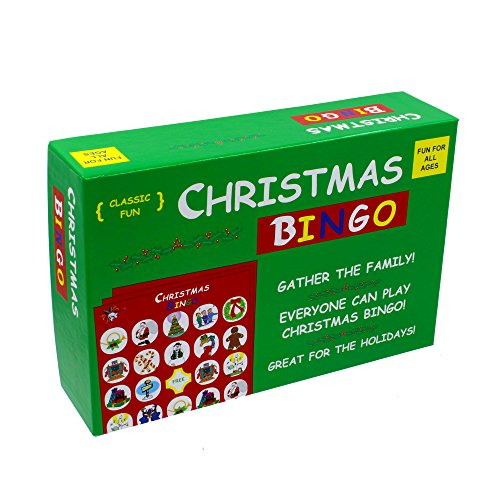 The Original and Classic Christmas Bingo Game - Have a very Merry Christmas with our popular Christmas Bingo Game, complete with bingo game cards, bingo chips and a bingo spinner!
