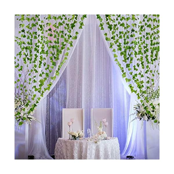 HOOPE-12-Pack-Ivy-Artificial-Plant-Hanging-Vine-Leaves-Wall-Decor-for-Wedding-Patio-Yard-Garland-Home-Greenery-Decoration-84-Ft-Outside-and-Inside-Backdrop-Decor