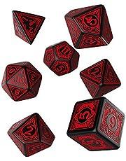 Q WOKSHOP Pathfinder Wrath of the Righteous Rpg gedecoreerde dobbelstenen set 7 polyhedraal stukken