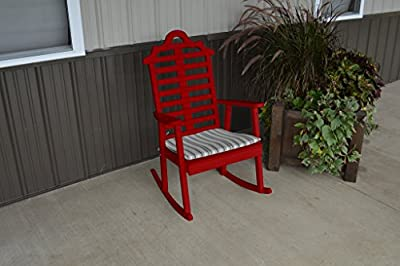 Pine Country Outdoor Marlboro Porch Rocker Amish Made USA- Tractor Red Paint