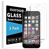MAXFEND [3 PACK] For Apple iPhone 6 Plus / iPhone 6s Plus [Tempered Glass] Screen Protector [Anti-Scratch] [Anti-Fingerprint] [Bubble Free] with Lifetime Replacement Warranty