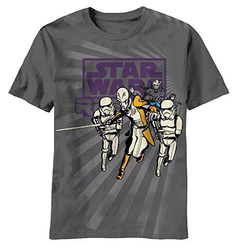 Star Wars Little Boys' T-Shirt, Charcoal, 4