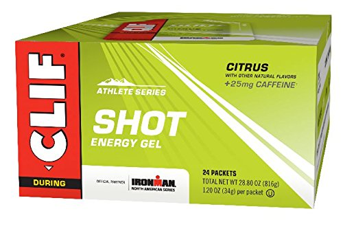 CLIF SHOT - Energy Gel - Citrus - With Caffeine (1.2 Ounce Packet, 24 Count)