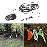 Alamana 3.2m Portable Hanging Rope Clothesline Outdoor Camping Travel Clothes Towel