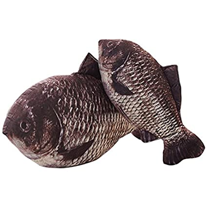 Stuffed Fish Kids Throw Pillow Kids Room Decorative Toy Doll 16/'/' Crucian