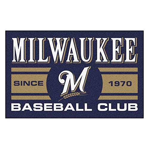 Milwaukee Brewers Rug (FANMATS 18474 Milwaukee Brewers Baseball Club Starter Rug)