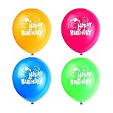 Custom Balloons Photo Print Party Balloons 200 Pack Birthday Wedding Shower Balloons (Assorted Color)