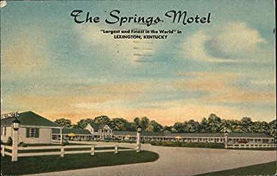 The Springs Motel Lexington, Kentucky Original Vintage Postcard