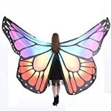 Creazy Egypt Belly Wings Dancing Costume Butterfly Wings Dance Accessories No Sticks (Purple)