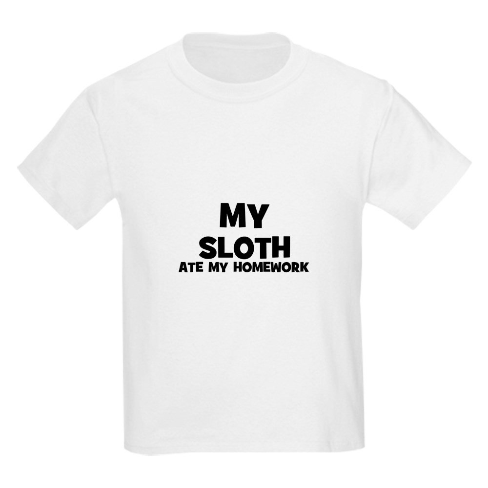 CafePress - My Sloth Ate My Homework Kids T-Shirt - Youth Kids Cotton T-shirt