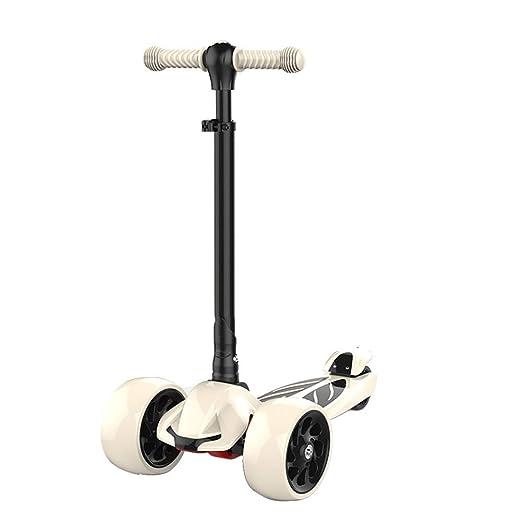 YJFENG-Patinetes Scooter Altura Ajustable Ningun Ruido Rueda ...