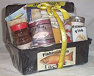 Tackle box men gift basket fun fishing gift for Fishing gift box