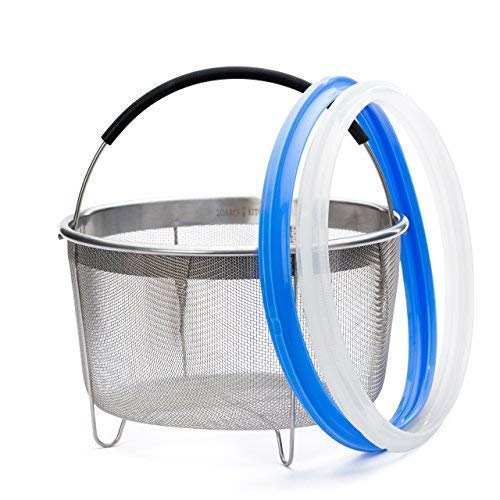 Zoari's Kitchen Steamer 6 Qt Accessories Steamer Basket 6 Qu