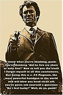 Dirty Harry Movie Poster  Large 24inx36in
