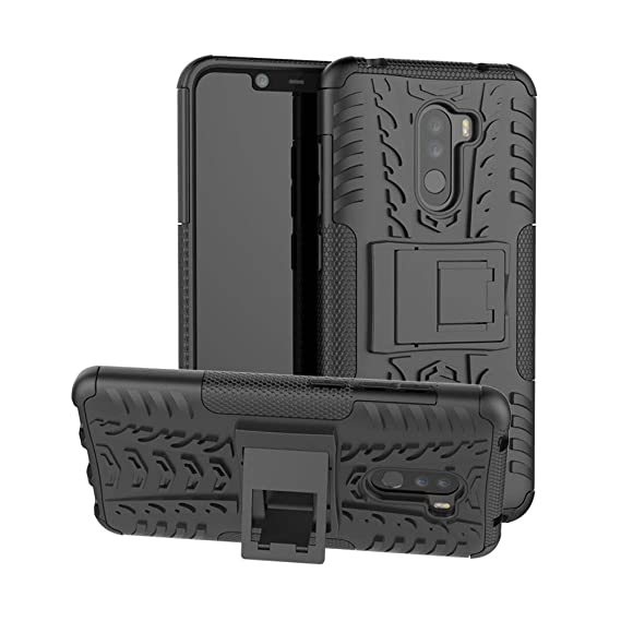 san francisco 760fb 900e7 Xiaomi Pocophone F1 Case, Shockproof Rugged Anti-Drop Armor Hybrid  Full-Body Holder Protective Back Cover with Kickstand for Xiaomi Pocophone  F1 ...