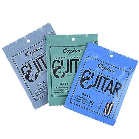 Orphee RX Series - Cuerdas para guitarra eléctrica: Amazon.es: Instrumentos musicales