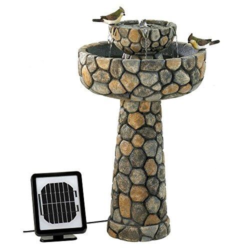 Garden Fountain, Decorative Modern Backyard Wishing Well Solar Water Fountains by Cascading Fountains