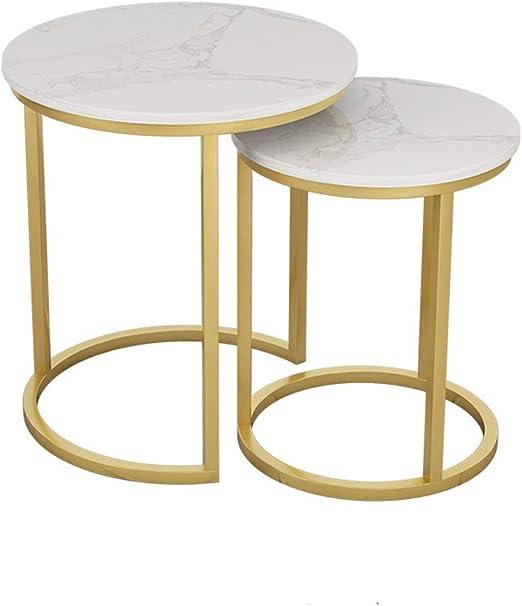 KUKU-mesas de centro Mesa Lateral/Mesa de Esquina con Juego de ...