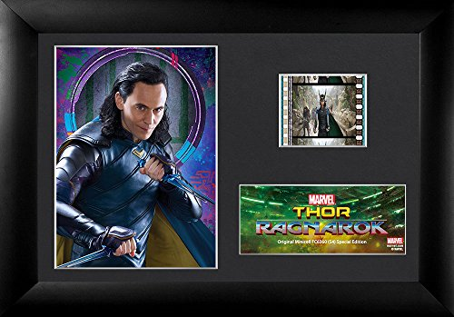 FilmCells Thor 3 Ragnarok (Loki) Minicell Desktop Presentation with 35mm film and easel stand