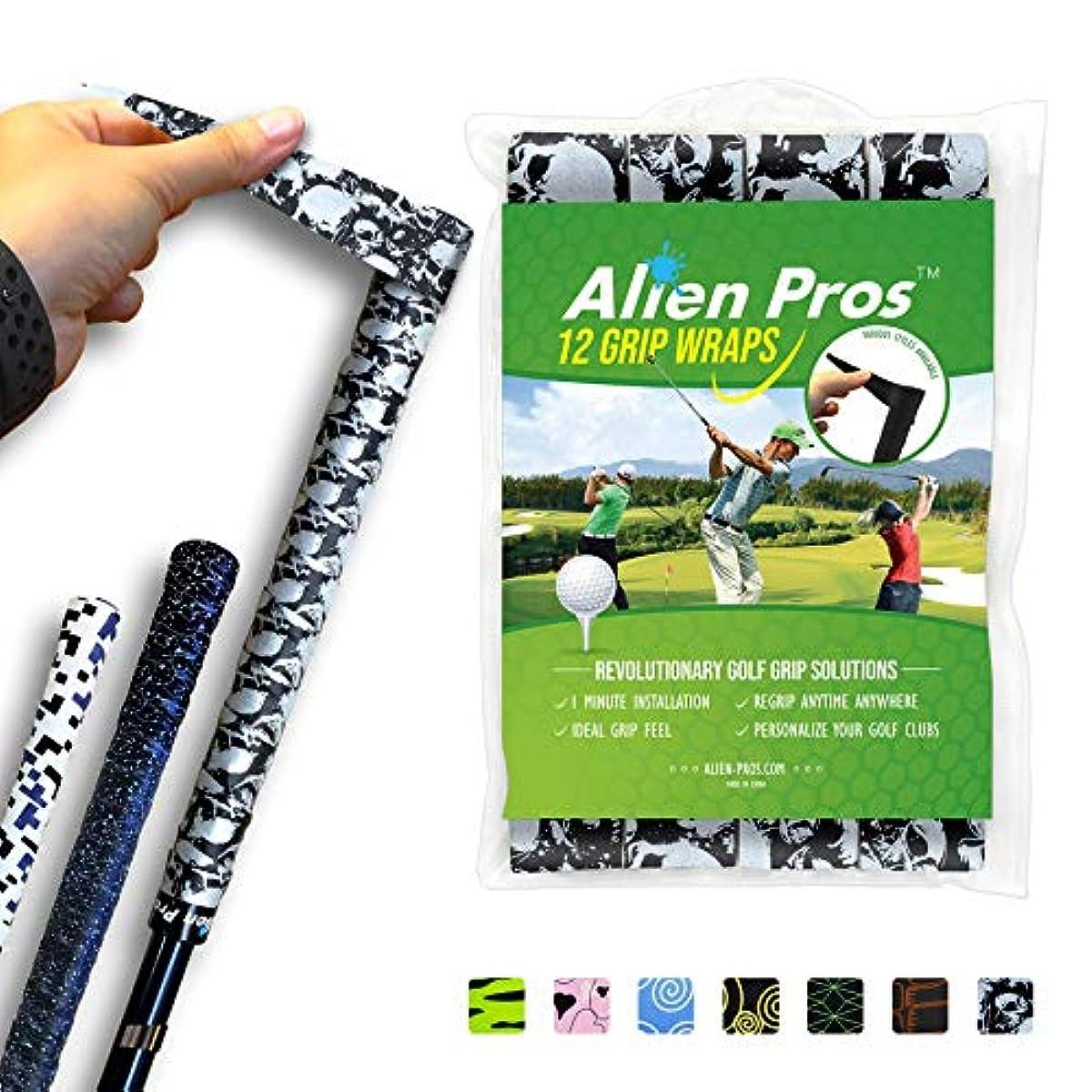 [해외] ALIEN PROS 골프 랩핑 테이프(I/6/12/24 개세트) - 혁신 적인 골프 클럽 그립 솔루션-1 분이내에,새로운 그립으로 일변합성피혁니다.