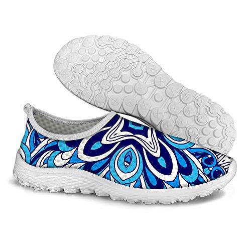 Pour U Conçoit Des Chaussures De Course De Sport En Maille Respirante Dété Léger Élégant Pour Les Femmes Bleu Un