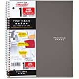 Five Star Wirebound Notebook, 1-Subject, 100 Wide-Ruled Sheets, 10.5 x 8 Inch Sheet Size, Grey (72124)