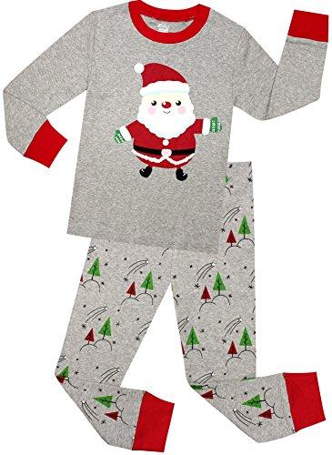 Girls And Boys Pajamas Children Christmas Gift Set Kids Sleepwear Santa Claus PJs Size 6 Years (Christmas Pajamas For Children)