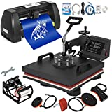 Mophorn Heat Press Machine 15x15 inch 5in1 T-Shirt Heat Press and Vinyl Cutter 14 inch Plotter Machine 375mm Paper Feed Vinyl Cutter Plotter