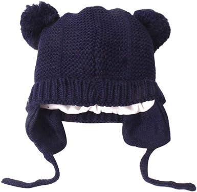 Toddler Kids Boy/&Girl Baby Infant Winter Crochet Knit Hat Beanie Cap Scarf Set