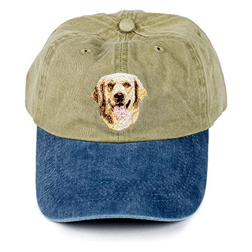 Golden Retriever - Dog Breed Green Blue Cotton Baseball Style Hat A Christmas Memory Theme