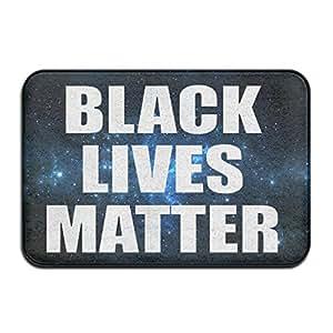 Negro vida tema anti–Slip Mats baño alfombrillas de baño, Non–slip mats impermeable de plástico Cocina Puertas alfombrillas alfombrillas alfombras