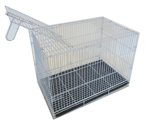YML 20-Inch Small Animal Crate with Wire Bottom Grate and Bl