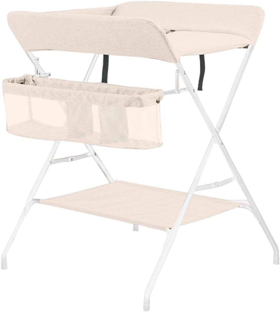 新生児マッサージタッチテーブルベビーベッド(安全で安定した、折りたたみポータブル、強化鋼管)ベビーおむつテーブル、折り畳み式多機能ベビーケアテーブル、