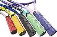 Senston Tennis/Badminton Racket Grip - 5 Pack/Racket Grip Anti Slip Perforated Super Absorbent Overgrip