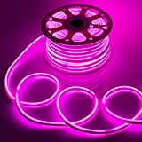 WYZworks Pink Flexible Water Resistant Soft Double Side LED Neon Rope Light Strip Bar 150FT