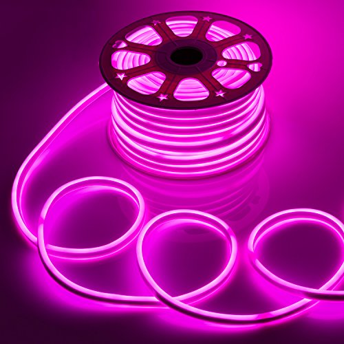 WYZworks Pink Flexible Water Resistant Soft Double Side LED Neon Rope Light Strip Bar 150FT by WYZworks