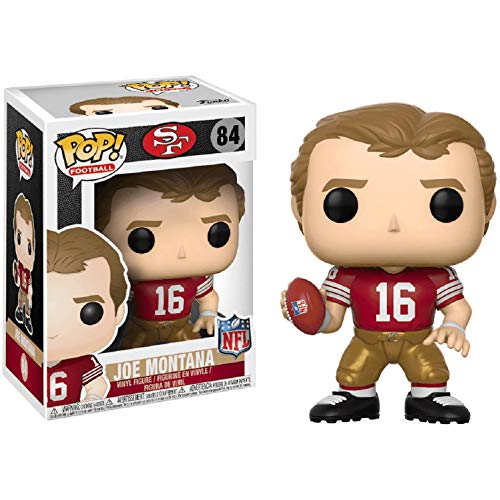 Joe Montana [49ers Home]: NFL Legends x Funko POP! Football Vinyl Figure & 1 POP! Compatible PET Plastic Graphical Protector Bundle [#084 / 20202 - B]