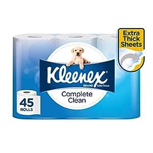 KLEENEX Complete Clean Toilet Tissue, 45 Rolls