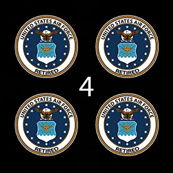 "Air Force USAF Veteran Retired SSI 3"" (4)Four Decal Sticker Lot"