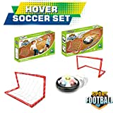 urinal cake target - E-SCENERY Kids Toys Soccer Goal Set Hover Football with 2 Gates for Kid Birthday Gifts Sports Air Power Training Ball Indoor Outdoor Disk Game with LED Lights and Mini Screwdriver