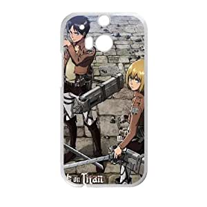Attack On Titan Destroyed HTC One M8 Cell Phone Case White NiceGift pjz0035105082