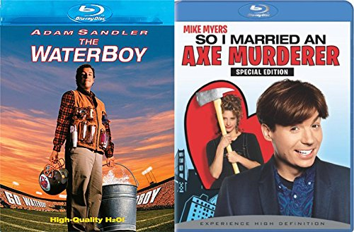 So I Married an Axe Murderer & Larry Blu Ray + The Waterboy Comedy Double Feature Adam Sandler Bundle Movie Set