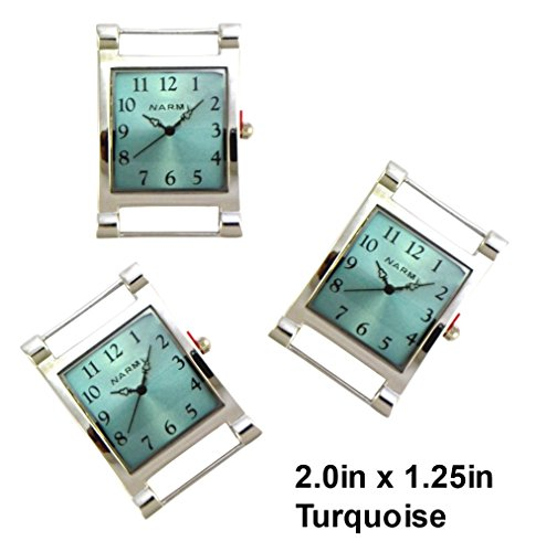TVT 2pcs Rectangle Watch Faces for Your Interchangeable Beaded Bands TVT-3604 - Beaded Interchangeable Watch Silver