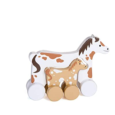 Jack Rabbit Roly Poly Mommy and Baby Push Toy - Horse: Toys & Games