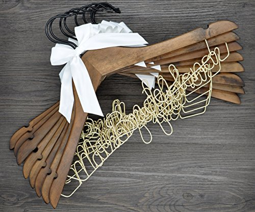 Vnque Custom 13 Set Wedding Birdal Last Name Hanger Birdesmaid Gift